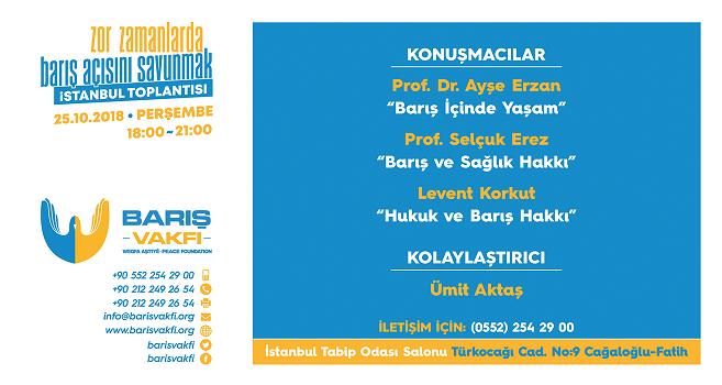 Zor Zamanlarda Barış Açısını Savunmak  İstanbul Toplantısı